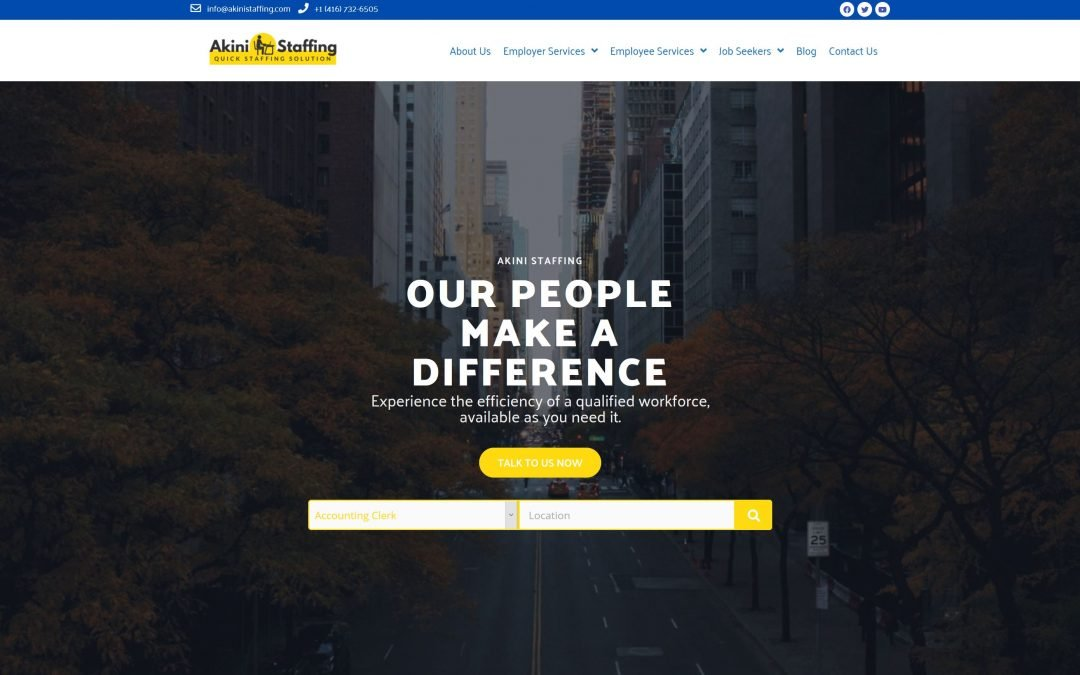 Akini Staffing Agency – Case Study